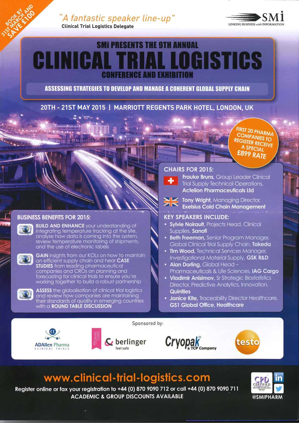 Clinical Trial Logistics - London